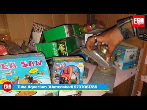 Fish Tank Toys, Driftwood & Decorative Items At Tuba Aquarium Ahmedabad