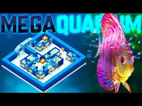 Megaquarium – The Fishkeeping Tycoon Game – Building The Perfect Aquarium – Megaquarium Gameplay