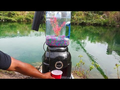 WORLD'S FIRST WATER Dispenser AQUARIUM! DIY (LIVE FISH)