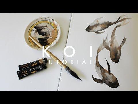 Learn to Watercolor Koi Fish! | simple tutorial