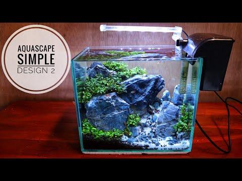 #100 Aquascape simple design 2   cocok buat anak koss dan meja kerja  