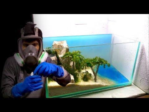 Cara Membuat Efek Air Laut untuk Aquascape Tema Pantai