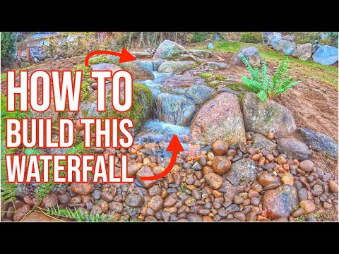 How To BUILD a SMALL WATERFALL | Garden Cascade