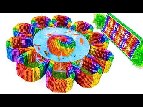 DIY – Build Stone Flower Aquarium Fish Tank With Magnetic Balls (Satisfying) – Magnet Balls