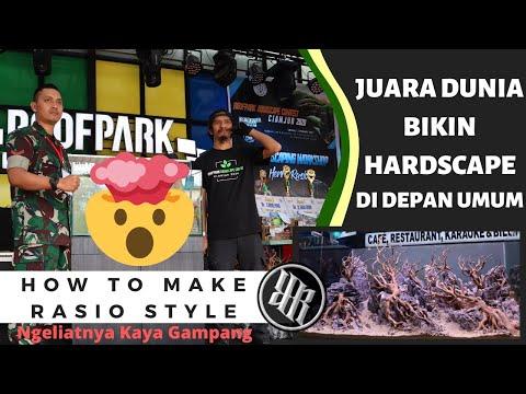 Juara Dunia Aquascape Bikin Hardscape Kelas Kontes di Event Aquascape Cianjur with Herry Rasio