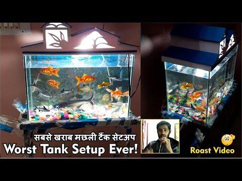 Worst Aquarium tank setup ever – 1st Aquarium fish tank roast Video