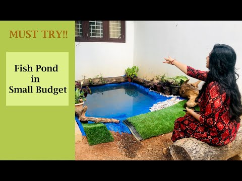 How to make a fish pond at home || Small Budget DIY || Pond Making ||Garden ideas|| Makeover||