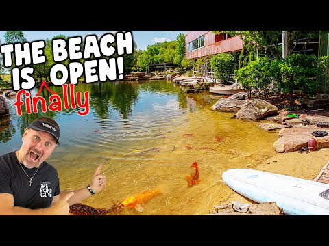 REC POND W/ Beach FINISHED: Cleanout at Aqualand – Part 3