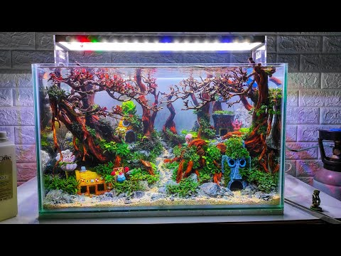 #196 Spongebob themed Aquarium jungle style