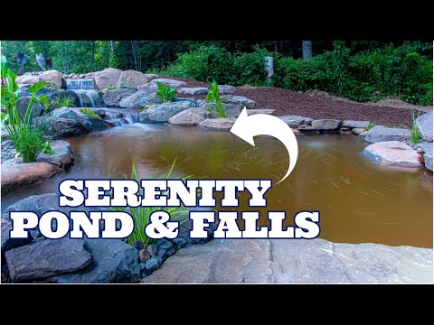 Serenity Pond with BIG BOULDER WATERFALL