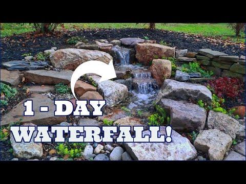 ONE DAY Small Pondless Waterfall (tiny backyard stream fountain)
