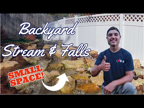 Small STREAM & WATERFALL in the Backyard