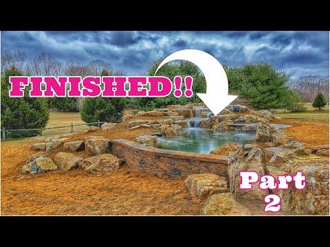 Pond Behind RETAINING WALL | Serenity Elite part 2