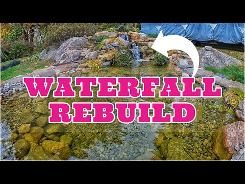 WATERFALL REBUILD   How To Make a Natural Looking Cascade