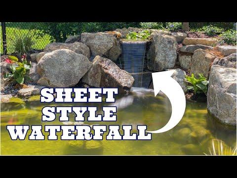 Medium Garden Pond with SHEETING WATERFALL