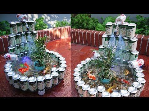 Make your own Koi Fish tank with Beer cans